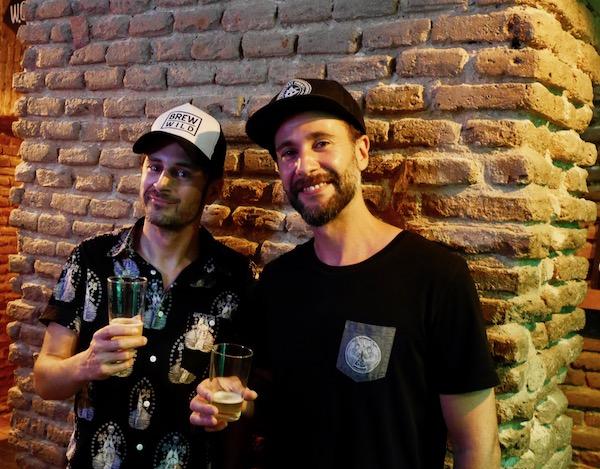 Benjamin und Carlos at Brew Wild für HHopcast, dem Craft Beer Podcast aus Hamburg