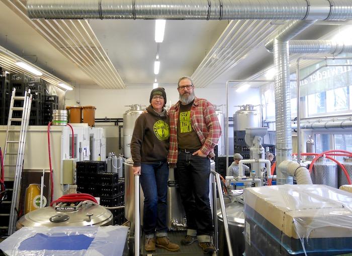 Julia und Oliver Wesseloh von der Kehrwieder Brauerei Hamburg und ihr ü.NN