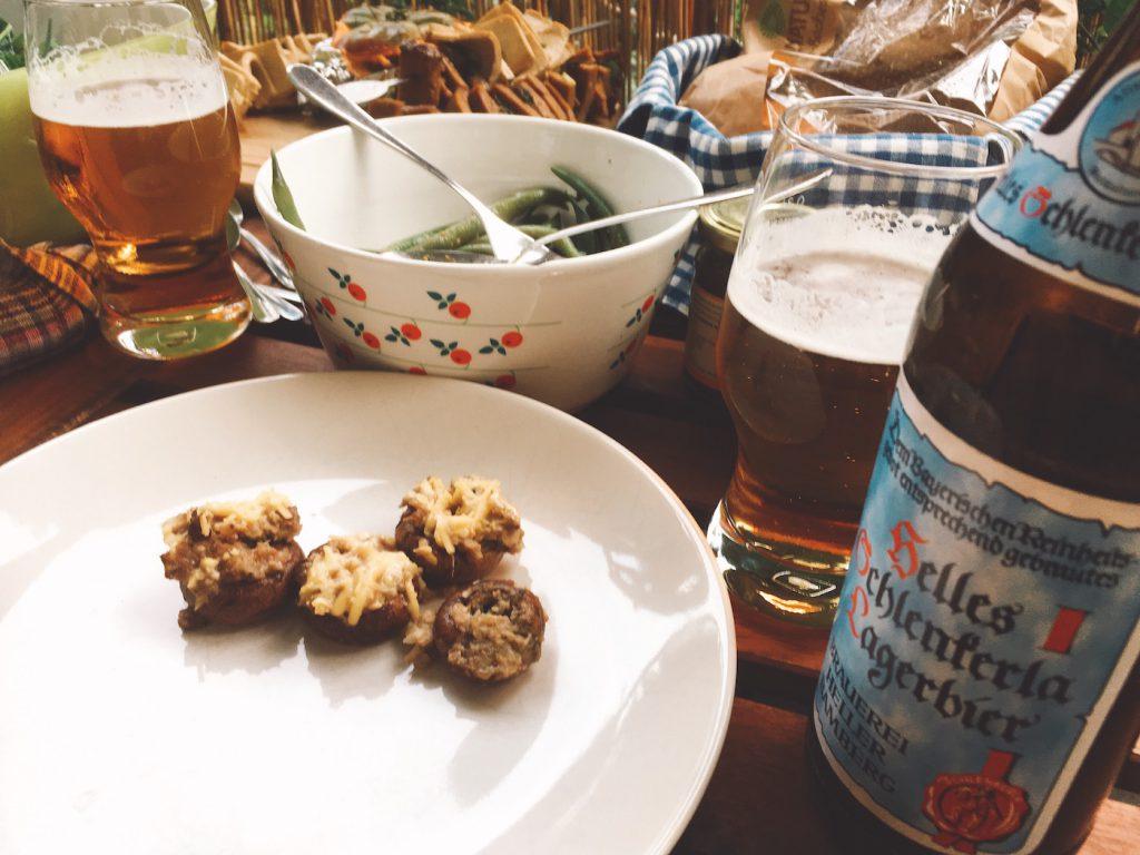 Beer Food Pairing: Gefuellte Pilze