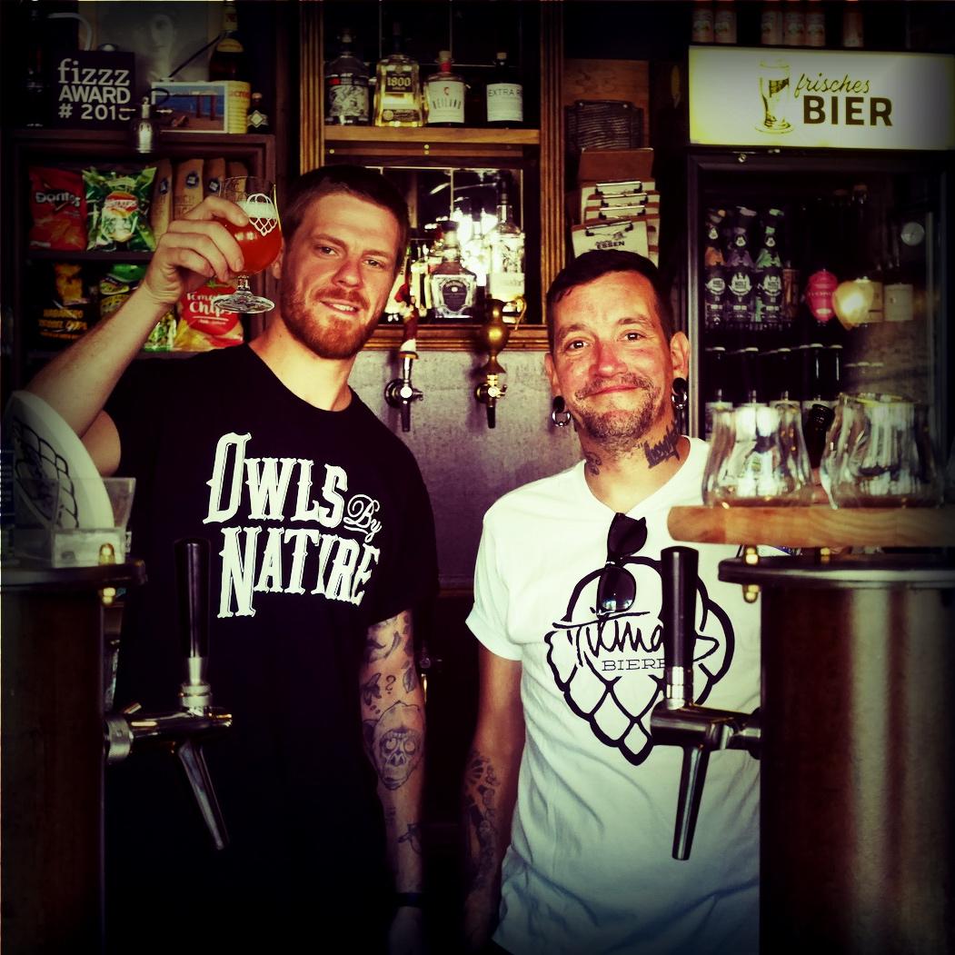 Tilman Ludwig und Franz Loening von Tilmans Biere im Frisches Bier in München