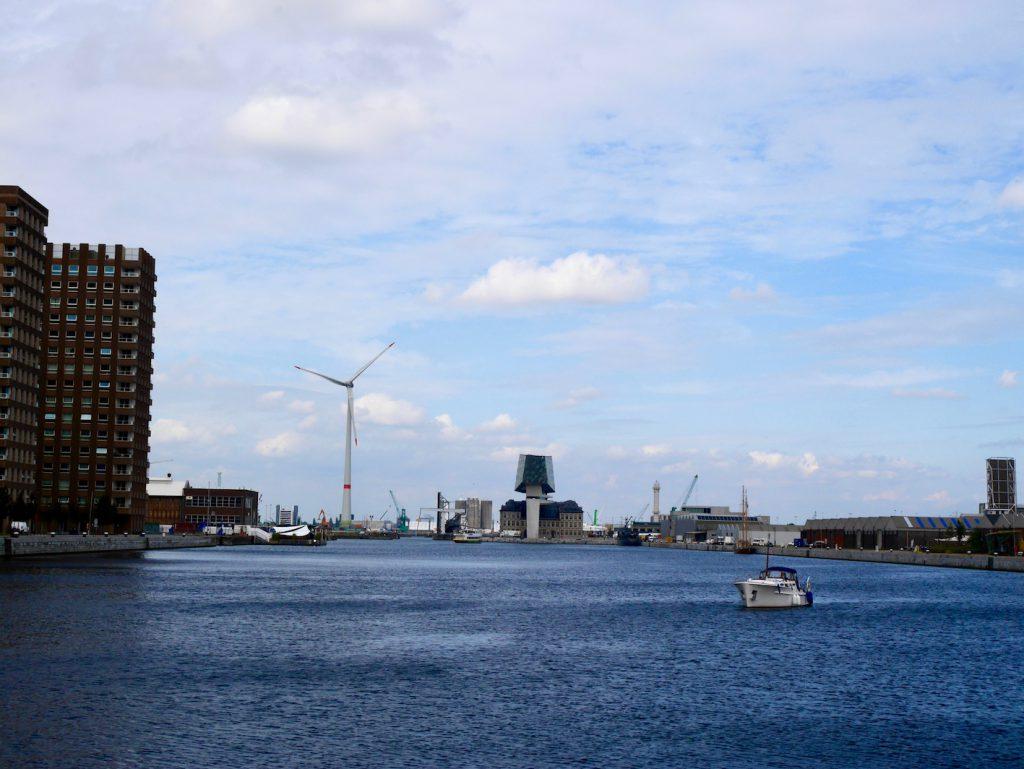 Eilandje Blick in den Hafen Antwerpen