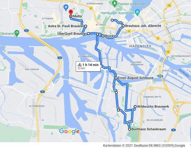 Neustadt bis Altona: Bierfahrradtour Hamburg